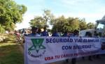 El área de Seguridad de Tránsito de la Policía de Rivas encabezó una marcha para llamar a cuidar la vida en las carreteras. LA PRENSA/R. VILLARREAL