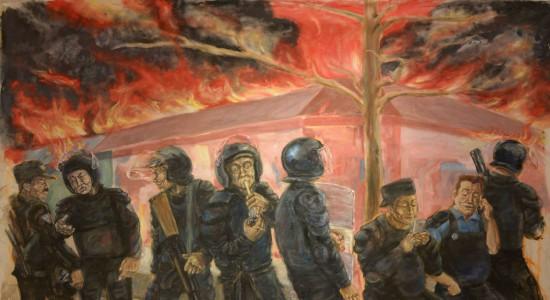 Terror y arte de  Ayotzinapa es expuesto por artistas de Málaga en Managua