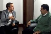 """Maduro sostiene una """"fructífera"""" reunión con Zapatero"""