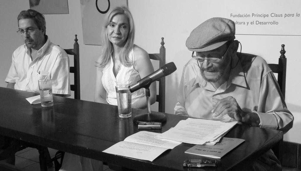 El Festival Internacional de Poesía de Granada le dedica el Autor y su obra, y le publica en una plaquete sus memorias literarias. LAPRENSA/ARNULFOAGÜERO