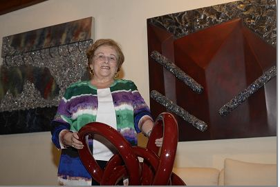 La pintora Ilse Ortiz de Manzanares muestra parte de sus esculturas y pinturas, a inicios del 2017 exhibirá una selección de ellas. LAPRENSA/ROBERTO FONSECA
