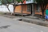 Barrio Santa Rosa se inunda con solo 20 minutos de lluvia
