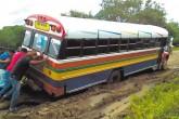 Caminos en mal estado en Rivas