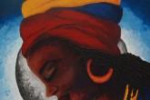 Mujeres afro retratadas en pinturas de vivos colores