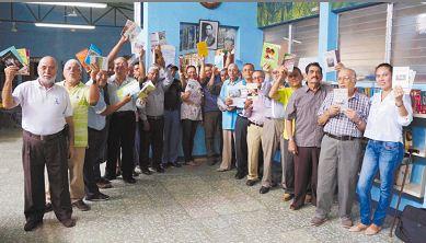 Participantes del IV Festival de Poesía Rubén Darío del Adulto Mayor en la Biblioteca Alemana Nicaragüense. LAPRENSA/ARNULFOAGÜERO