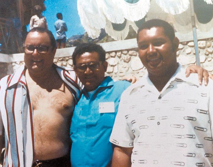 De izquierda a derecha: Anastasio Somoza Debayle, Porfirio Berríos, Jean-Claude Duvalier (presidente de Haití). LA PRENSA/Cortesía