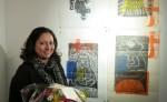 Alicia Zamora expone sus grabados en Alemania.LA PRENSA/Jurgen Kiehlmann