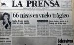 Portada del diario LA PRENSA del 21 de octubre de 1989, el día del accidente aéreo en el Cerro de Hule, Honduras. LAPRENSA/ARCHIVO