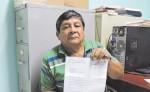 Duilio Gómez  recibió una carta del INSS en la que le comunican dónde recibirá asistencia médica. LA PRENSA/M. GARCÍA