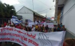 La marcha finalizó con un plantón frente a la casa departamental del FSLN. LA PRENSA/R.VILLARREAL