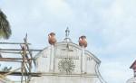 En el templo de Mozonte se hacen  trabajos de restauración.   Se estima que fue construido en 1736. LA PRENSA/CORTESÍA