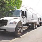 Nuevos camiones para recolectar basura en León