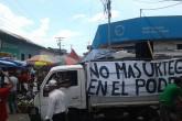 Plantón y marcha contra Ortega en Chinandega