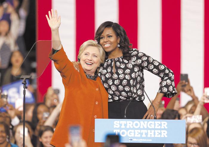 Reafirma Michelle Obama su total apoyo a Hillary Clinton