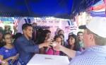 En el caso de la Embajada de los Estados Unidos en Nicaragua, en la feria le explican a los estudiantes sobre su sistema de votaciones y realiza actividades para dar a conocer su historia y tradición. LA PRENSA/ J. CASTILLO