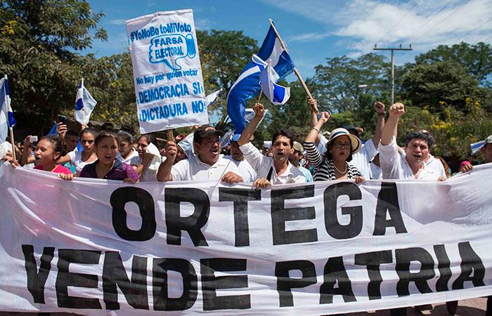 Opositores viajaron de Managua a Pantasma para apoyar la marcha. LA PRENSA / Jader Flores.