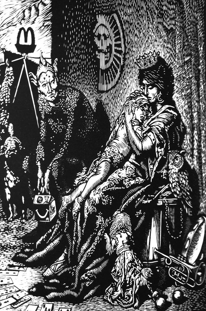 Grabado de Carlos Barberena, basado en una obra del grabador francés Gustave Doré. LAPRENSA/ARNULFOAGÜERO