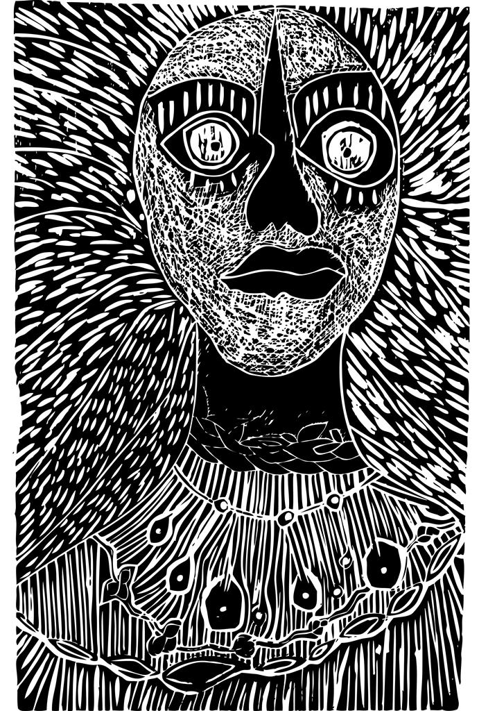 Mujer totem, grabado de Alicia Zamora. LAPRENSA/ARCHIVO