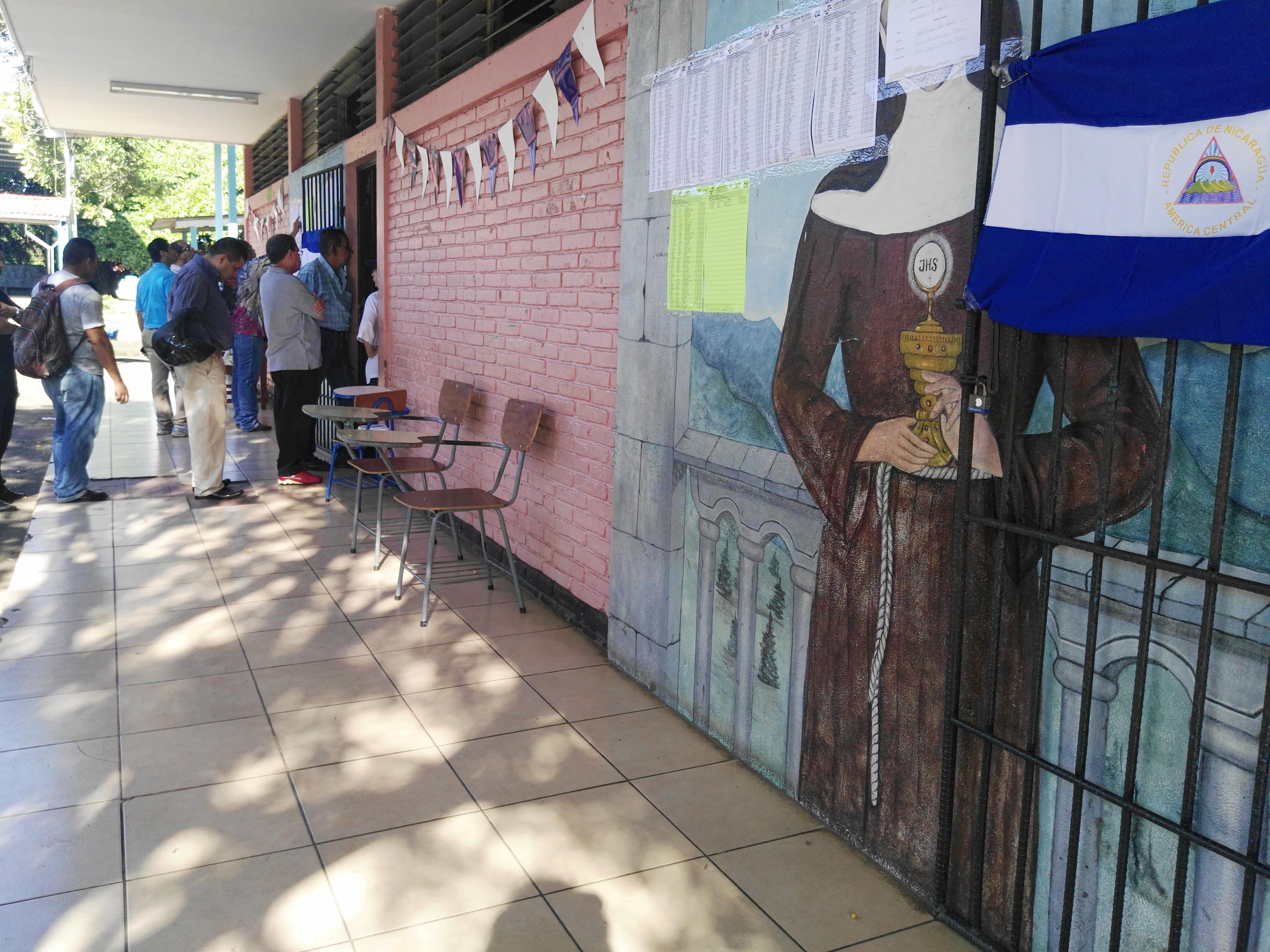 elecciones en nicaragua, Managua, colegio divino pastor