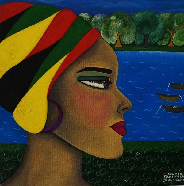 Mujer , pintura de Karen Spencer. LAPRENSA/Arnulfo Agüero