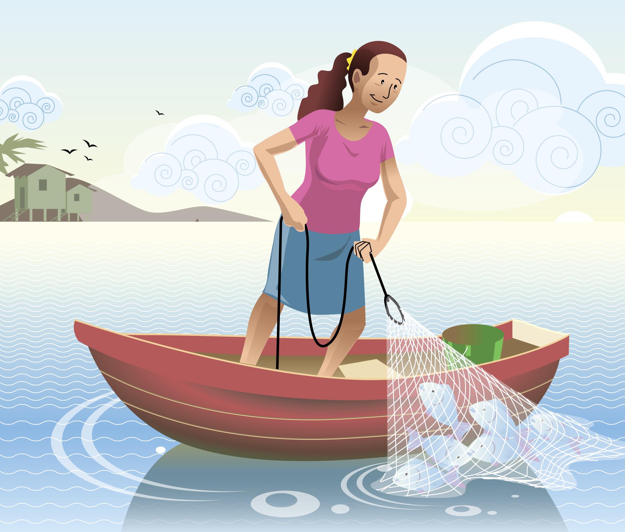 Mujeres pescadoras