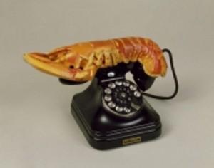 Teléfono-langosta - Artefacto de Salvador Dalí. LAPRENSA/EFE