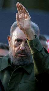 (FILES) This file photo taken on July 21, 2006 in Cordoba shows Cuban President Fidel Castro waving at a crowd in a political rally during the Alternative Summit, following the Mercosur Summit. Cuban revolutionary icon Fidel Castro died late on November 25, 2016 in Havana, his brother announced on national television. / AFP PHOTO / JUAN MABROMATA