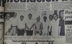 En esta de foto del 9 de octubre de 1978  se plasmó la visita de la Comisión Mediadora de la OEA al diario LA PRENSA,  como parte de sus entrevistas para indagar sobre la situación del país. Reproduccion Oscar Navarrete/ LA PRENSA.