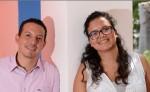 Amílcar López y Tania Sosa, del Coro del Conservatorio de Música de la Universidad Politécnica de Nicaragua. LA PRENSA/L. VILLAGRA
