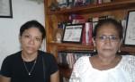 Gisela Martínez Paladino y Silvia España,    mamá y abuela respectivamente de Magdiel Bismark Sánchez Martínez, uno de los cadetes que falleció ahogado en Puerto Sandino LA PRENSA/ M. GUEVARA