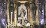 Miles de peregrinos tras la misa y bajada de la imagen de la Virgen del Trono  gritaron con júbilo: ¡María de Nicaragua,  Nicaragua de María!, y ¿¡quién causa tanta alegría!?