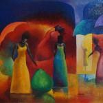 Muestra de pintura contemporánea en galería Praxis