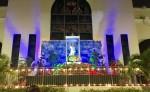 Uno de los altares creados por nicaragüenses en el Sur de la Florida. LAPRENSA/J. Flores