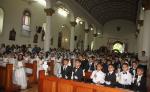 Niños de diferentes partes del país recibieron la Primera Comunión. LAPRENSA/L.MARTÍNEZ