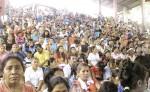 Más de 3,000 feligreses católicos se congregaron ayer en el Santuario de Cacaulí. LA PRENSA/ W. ARAGÓN