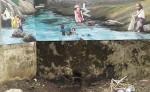 De este punto salía abundante agua en el río El Viejo. Después de trabajos en un nuevo puente que fue arrastrado y alteraciones constantes, ha perdido su caudal. LAPRENSA/ SAÚL MARTINEZ