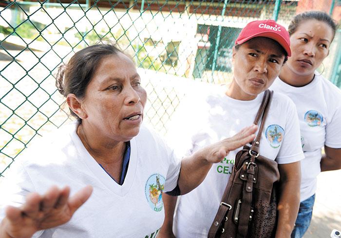 Medarda Flores Artola, familiar de los indígenas mayangnas asesinados el 27 de noviembre en Alamikamba. LA PRENSA/ESQUIVEL.