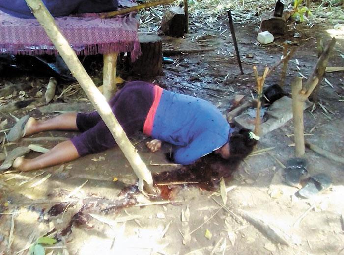 Francisco Bendles Flores, Benicia Dixon (embarazada) y su hijo de once años fueron asesinados en Alamikamba, Costa Caribe Norte, el 27 de noviembre. LA PRENSA/CORTESÍA