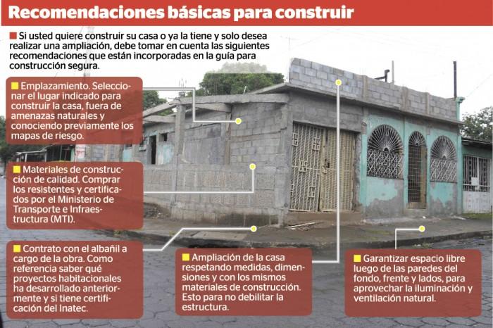 Gu a b sica para tener una construcci n segura en nicaragua - Materiales para construir una casa ...