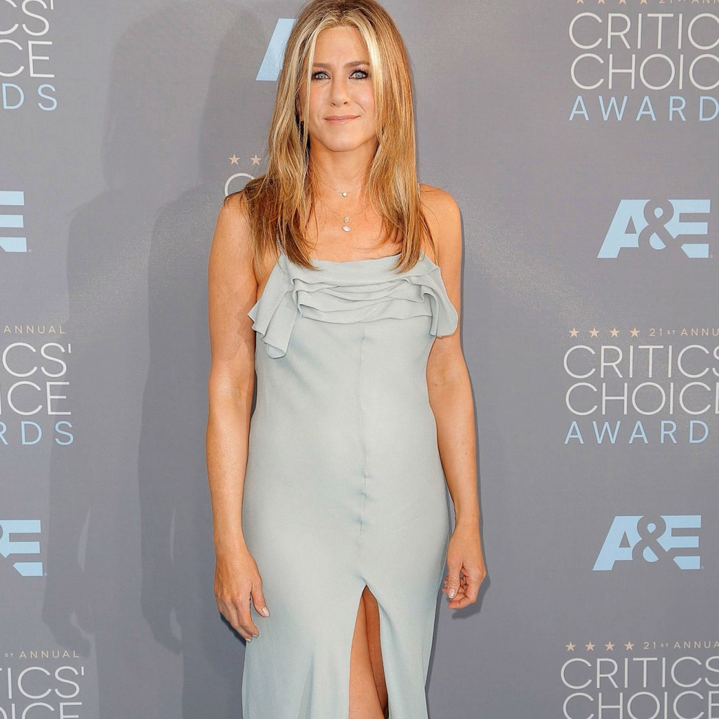 Mandatory Credit: Photo by Chelsea Lauren/Variety/REX/Shutterstock (5541679aq) Jennifer Aniston 21st Annual Critics' Choice Awards, Arrivals, Los Angeles, America - 17 Jan 2016