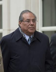 Julio Rocha cambio su estrategia, al declararse culpable de dos delitos. LA PRENSA/AFP/Don EMMERT