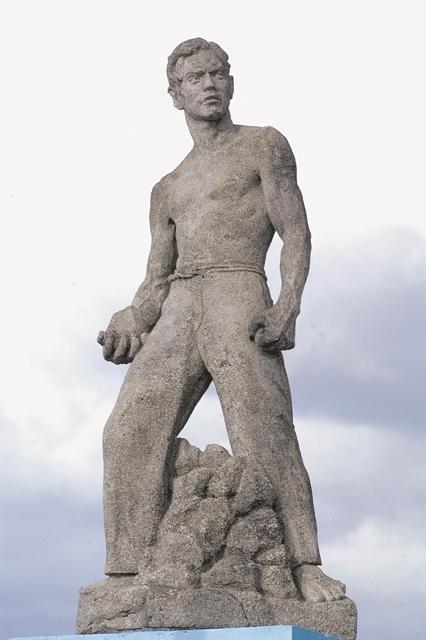 La escultura de Andrés Castro fue realizada por Edith Grön. LAPRENSA/ORLANDO VALENZUELA