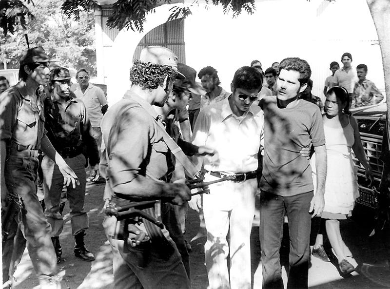 En la fotogría: Silvio Peña, el autor intelectual del asesinato de Pedro Joaquín Chamorro, durante el juicio del crimen. LA PRENSA/ARCHIVO