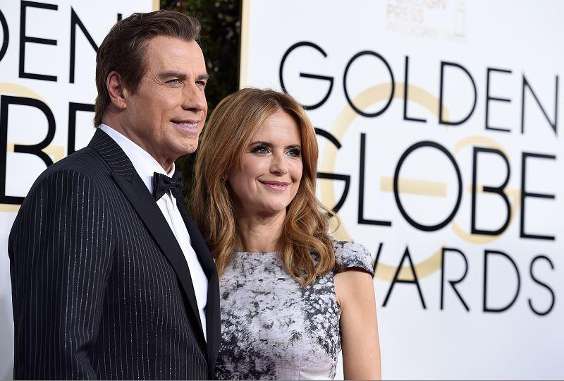John Travolta and Kelly Preston. AP