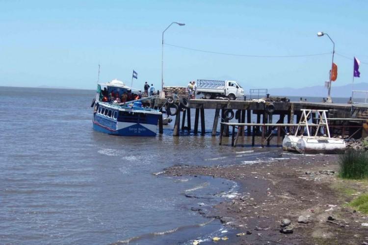 Isla de Ometepe sigue sin transporte acuático