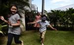 Niños jugando gallinita ciega. LA PRENSA / Uriel Molina.