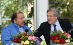 El presidente designado por el CSE, Daniel Ortega, junto al secretario general de la Organización de Estados Americanos (OEA), Luis Almagro. LA PRENSA/ARCHIVO
