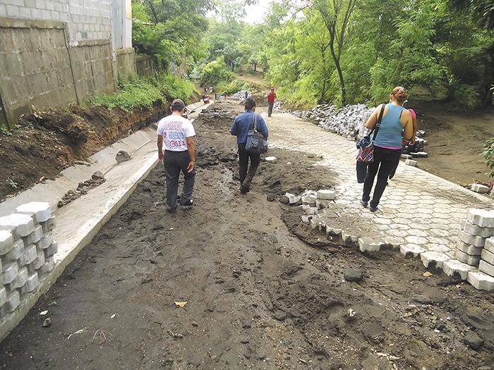 Las obras se dañan en Masaya pero la Alcaldía no multa a los constructores sino que asume las reparaciones. LA PRENSA/ ARCHIVO